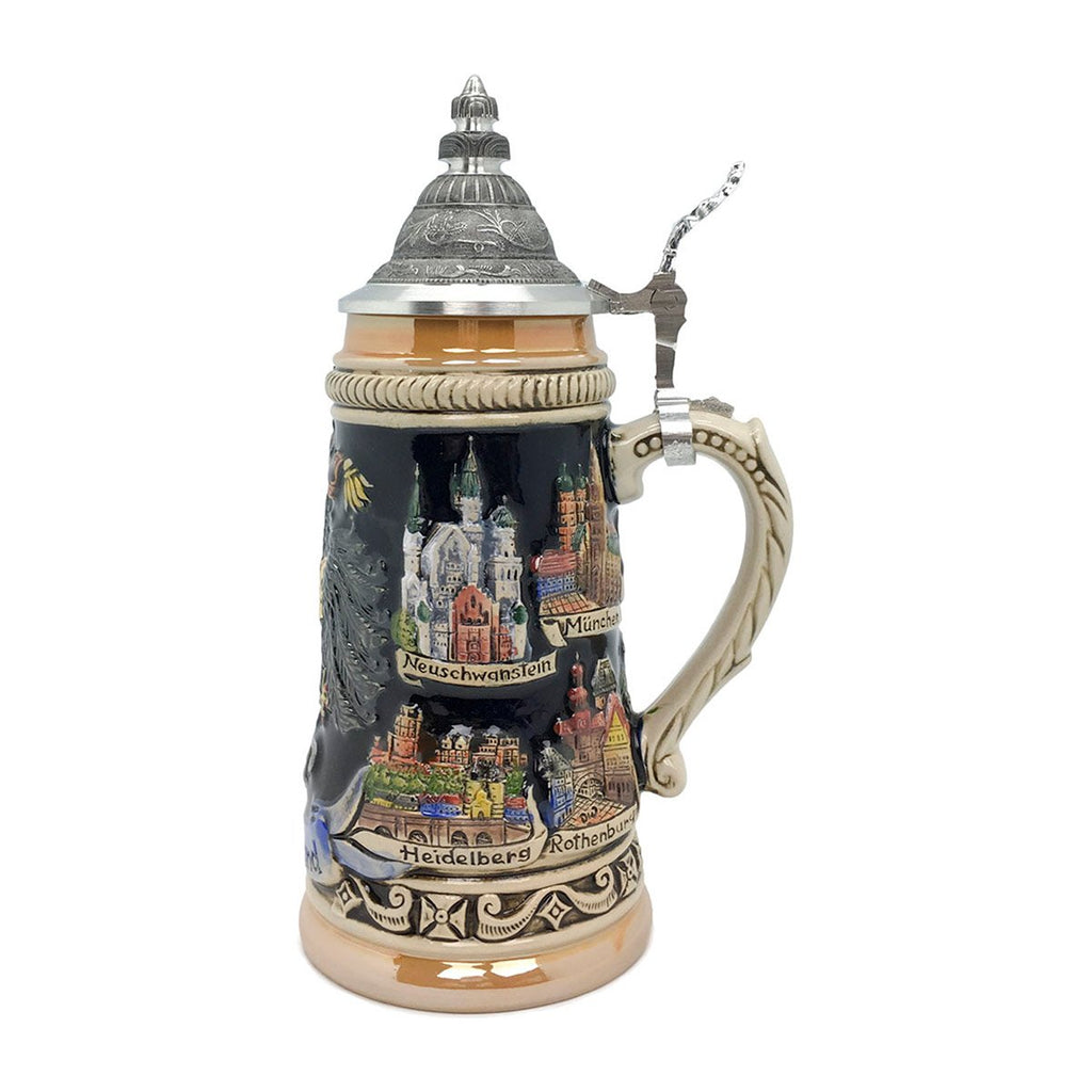 Zoller & Born Cities of Germany .55L Ceramic Beer Stein -2