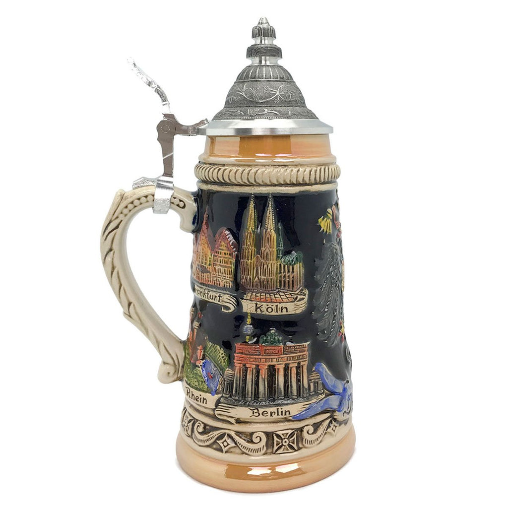 Zoller & Born Cities of Germany .55L Ceramic Beer Stein -3