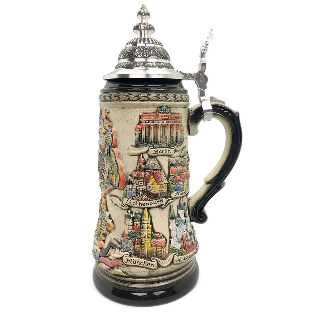Deutschland Cities Zoller & Born 1.25L German Beer Stein -2