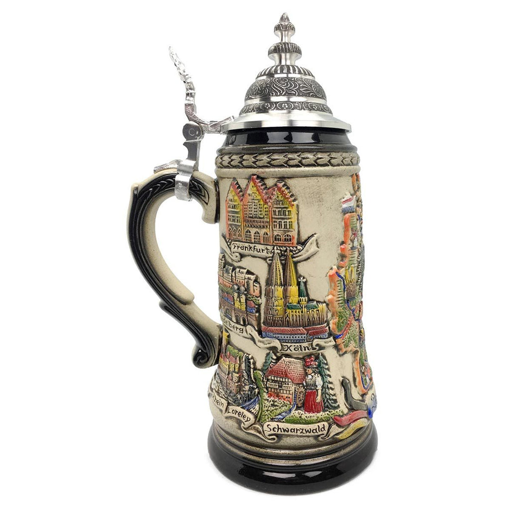 Deutschland Cities Zoller & Born 1.25L German Beer Stein -3