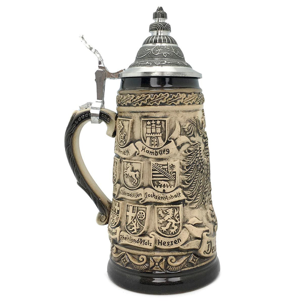 Bundeswappen Seidel .55L Made in Germany Zoller Beer Stein -3