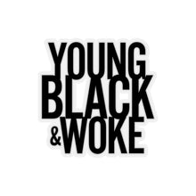Young Black Woke Magick-Cut Stickers