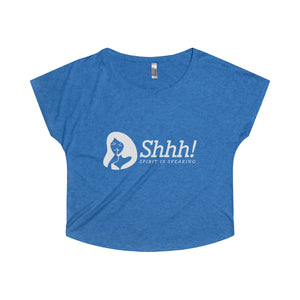 Shhh Spirit's Speaking Women's Tri-Blend Dolman