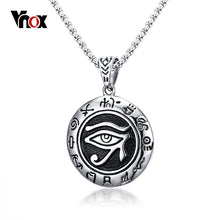 Eye of Ra Pendant Stainless Steel Round Necklaces