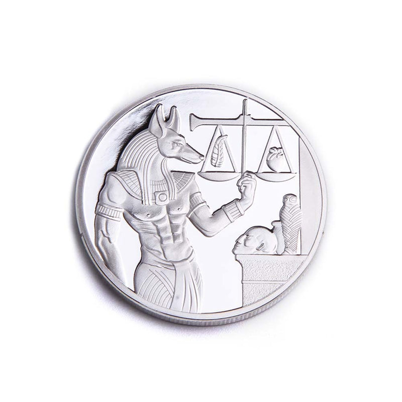 Egypt Death Protector Anubis Silver Coin Copy Egyptian God Of Death Commemorative Coins Steel Craft Dia