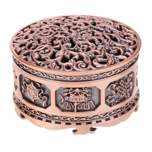 CYlinder Shape Alloy Bronze Incense Burner