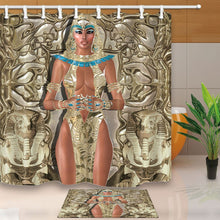 Ancient Egyptians Decor, The Goddess Of Light Mural in Egypt, 69X70in Mildew Resistant Polyester Fabric Shower Curtain Suit