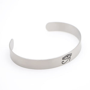 Eye of Horus amulet Stainless Steel Silver Cuff Unisex Bracelet