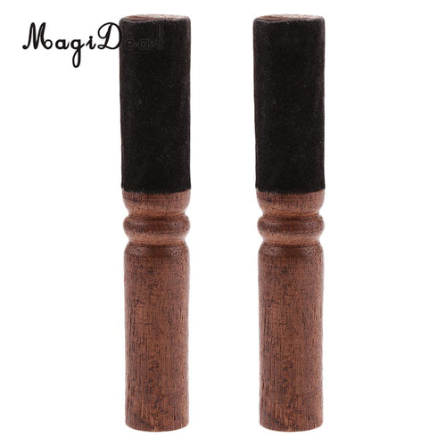 2PCS Singing Bowl Striker Buddhism Meditation Mallet with Leather Head 12.5x2cm