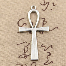 2pcs Charms cross egyptian ankh life symbol 52*28mm Antique Making pendant fit,Vintage Tibetan Silver,DIY bracelet necklace