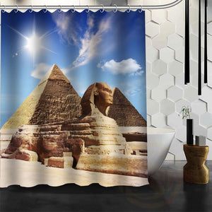 Best Nice Custom Ancient Egyptian Pyramids Shower Curtain Bath Curtain Waterproof Fabric For Bathroom MORE SIZE WJY#1