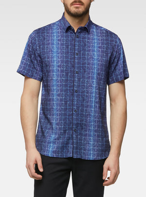 Short sleeve fossil printed shirt