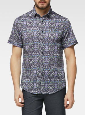 Short sleeve bird tapistry printed shirts