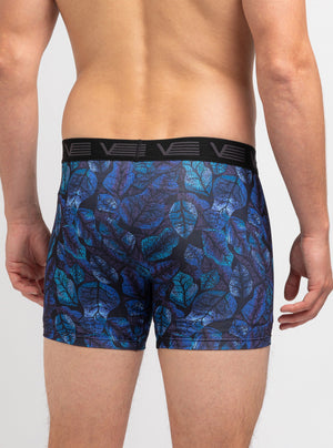 Leaf print boxer briefs