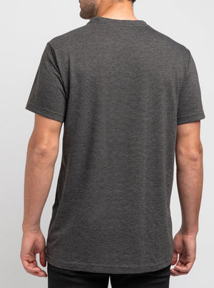 Charcoal round neck dry tech expira t-shirt