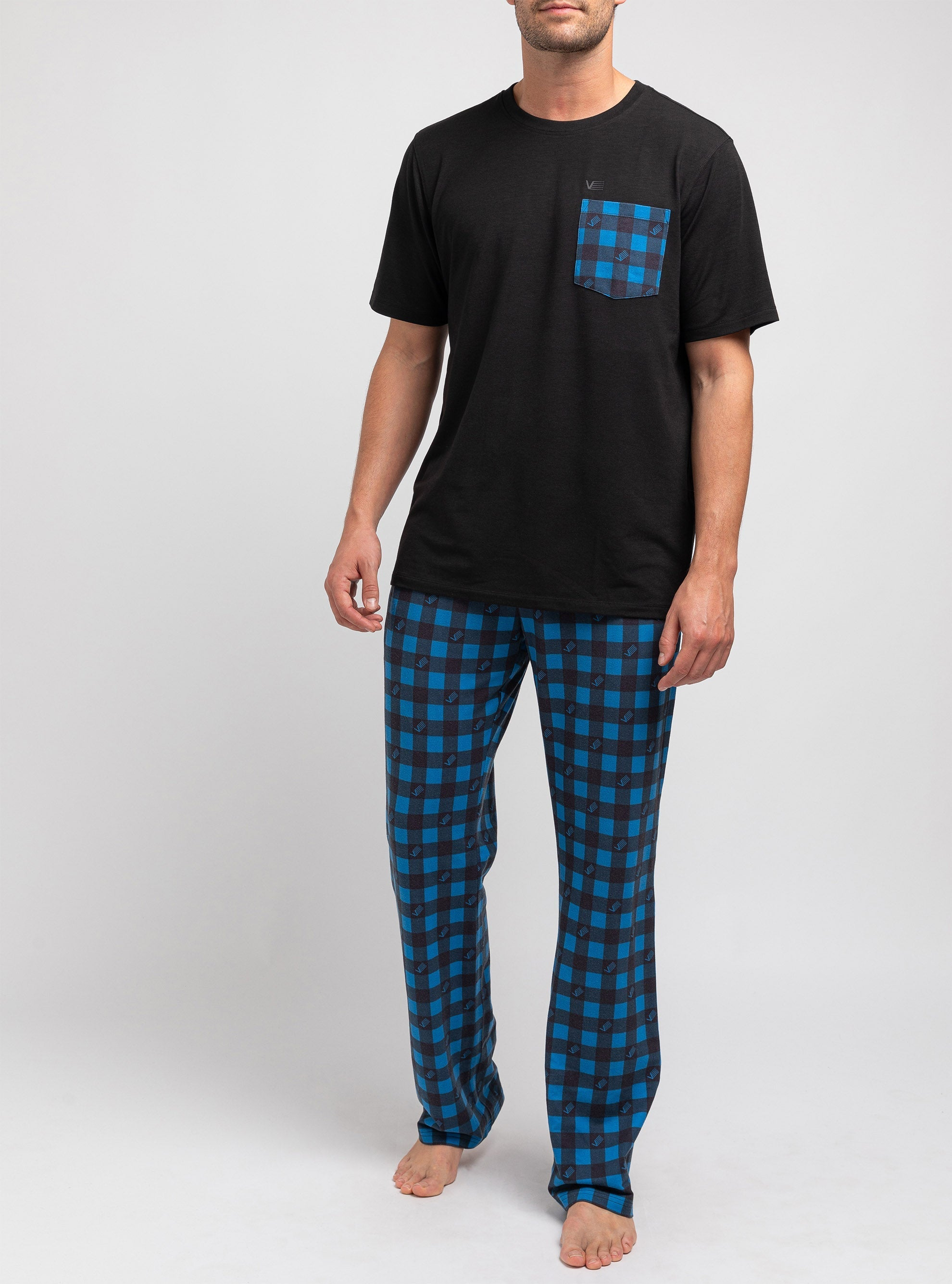 Sodalite blue checkered pajama set