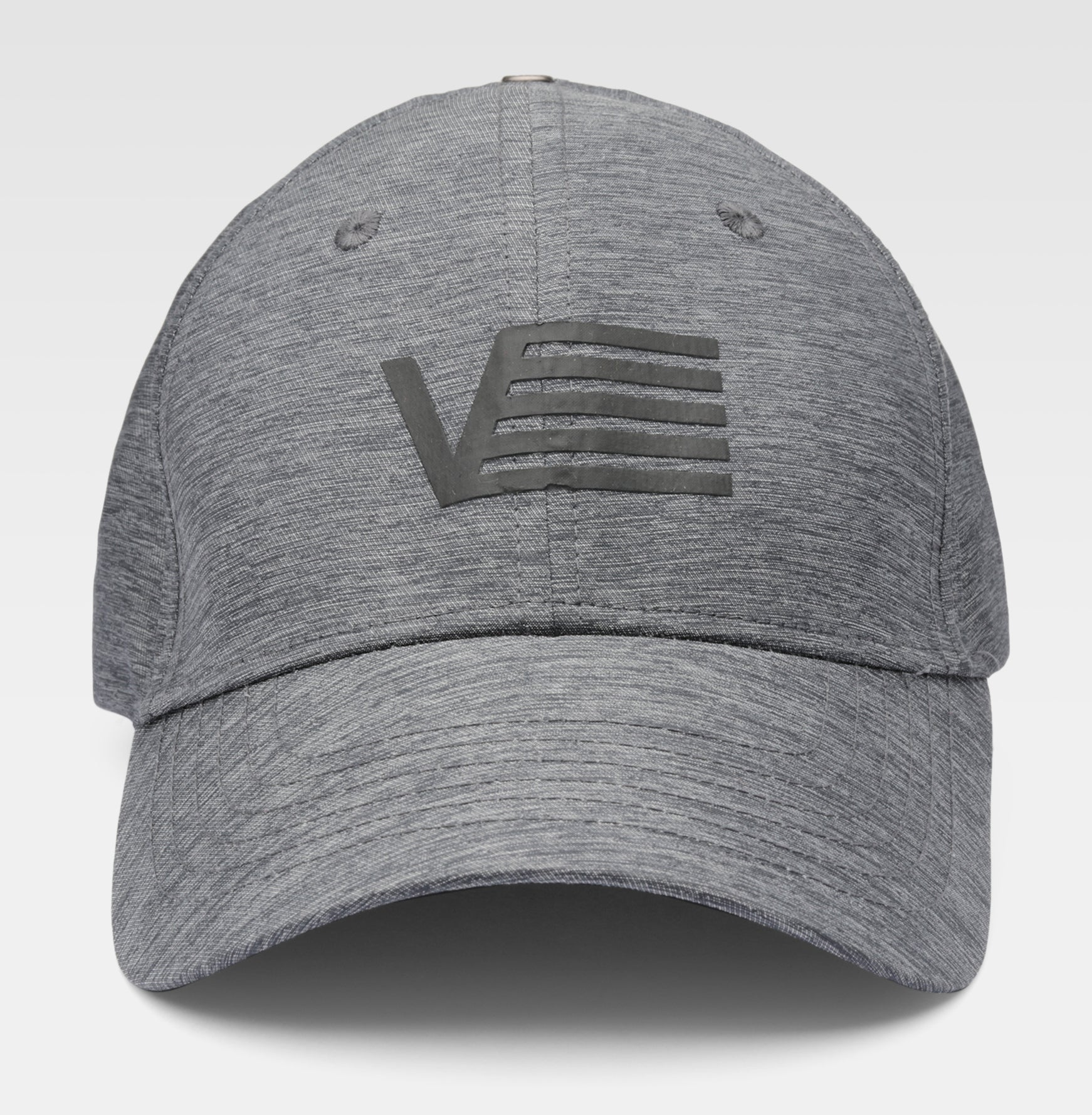 Gray cap with logo print