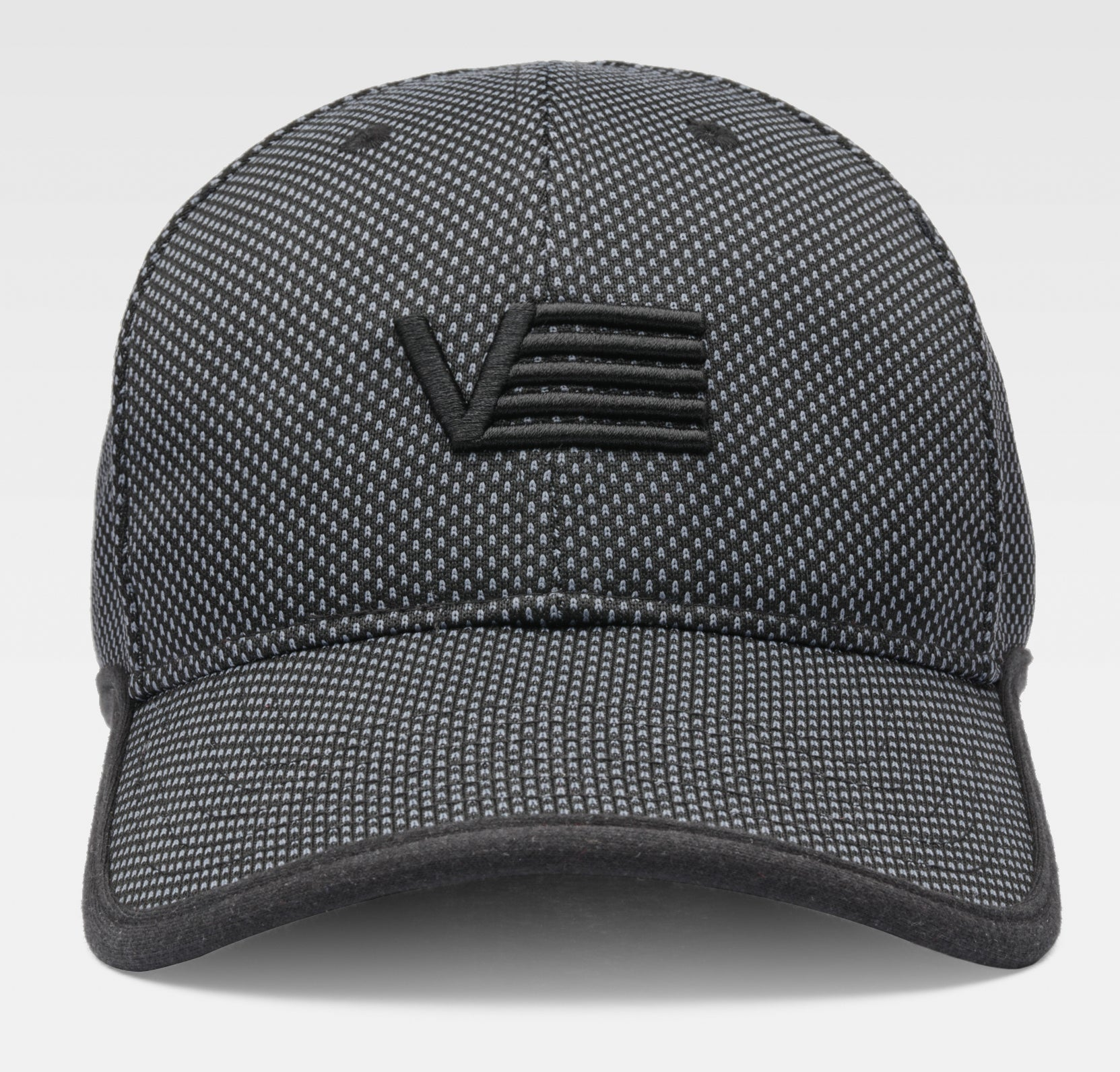 Charcoal cap with embroidered logo