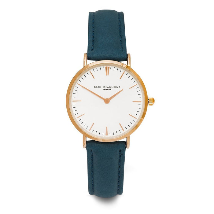 Small Elie Beaumont Personalised Oxford Blue Ladies Watch