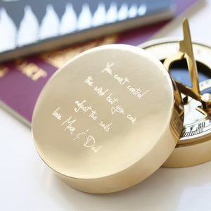 Own Handwriting Nautical Sundial Compass - Wear We Met