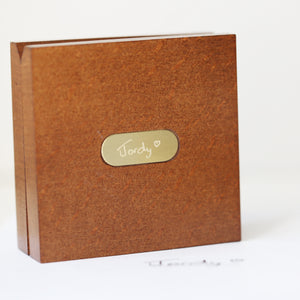 Own Handwriting Compass Personalised with Timber Box - Wear We Met