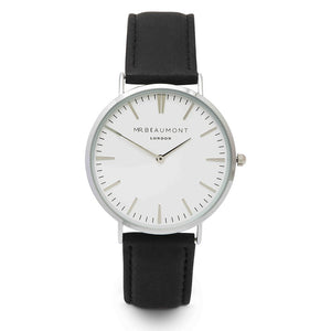 Mr Beaumont London Engraved Watch In Black - Wear We Met