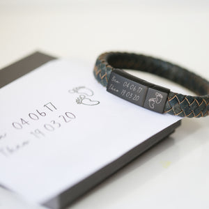 Handwriting Engraved Antique Style Bracelet - Iron - Wear We Met