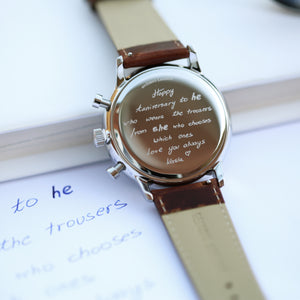 Handwriting Engraving - Men's Architect Motivator - Wear We Met