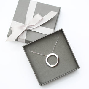 Sterling Silver Halo Necklace - Wear We Met