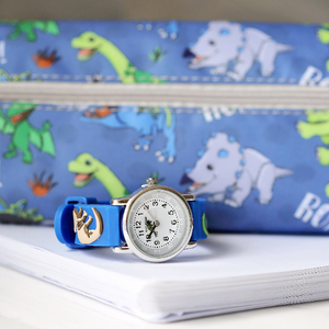 Engraved Kids 3D Dinosaur Watch - Blue - Wear We Met
