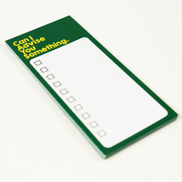 APOM Premio Collab - Can I Advise You Something - To-Do-List Pad