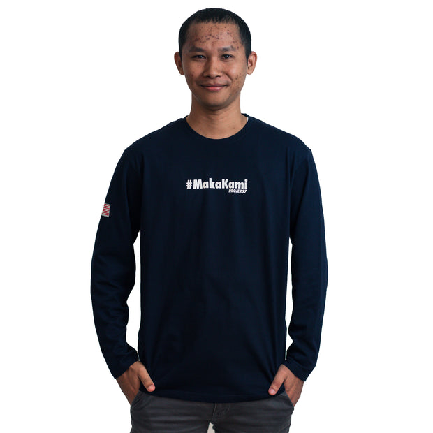 Projek57 - MakaKami Cotton (Long Sleeve) - Navy Tee