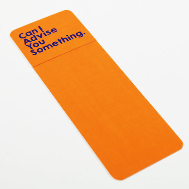 APOM Premio Collab - Can I Advise You Something - Bookmark