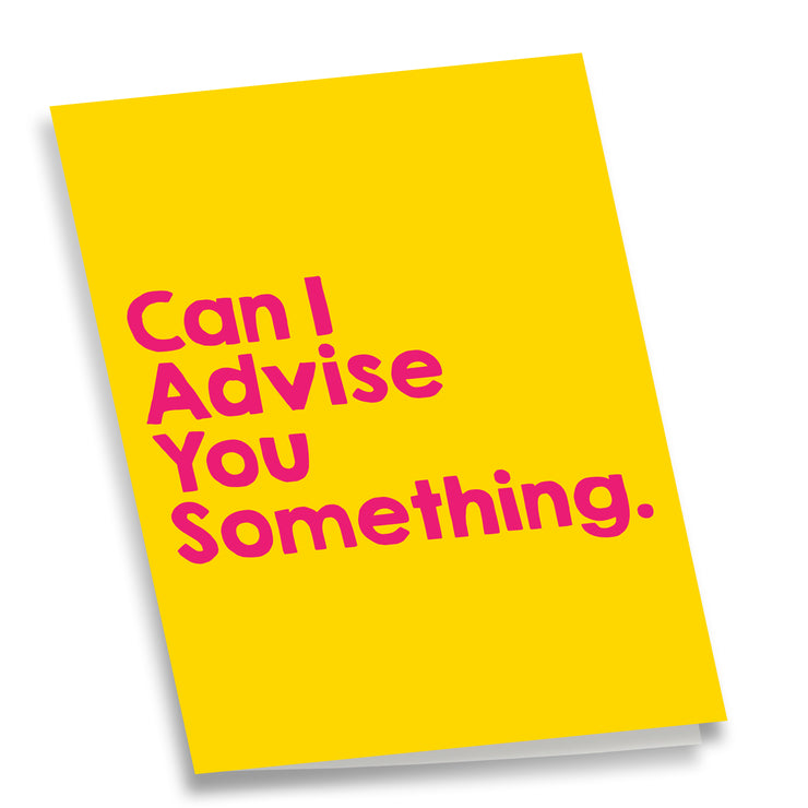 APOM Premio Collab - Can I Advise You Something - Greeting Cards