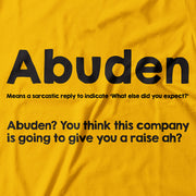 Adult - T-Shirt - Abuden - Yellow