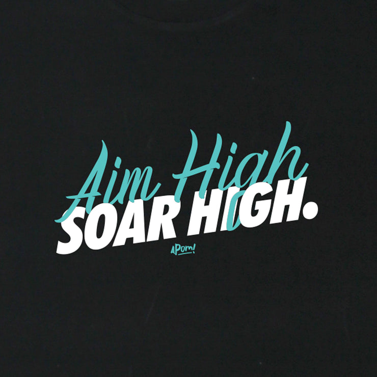 Adult - T-Shirt - Aim High - Black