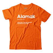 In this Orange T-Shirt, Apom explains the meaning of the local slang 'Alamak' as well as gives an example of it's meaning.