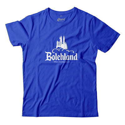 There's Disneyland (The Happiest Place On Earth), Koalaland (Australia), Kiasuland (Singapore), then there's also Bolehland. MANA LAGI, Malaysia lah of course!  Because this is where everything also can!  Wear this t-shirt to always feel that you Can-Do-Anything! Feel the rhythm of R. Kelly's I Believe I Can Fly, strut it like Madonna's Vogue. The kuasa banyak boomz with this one. Apom's Malaysian Disneyland parody Tee