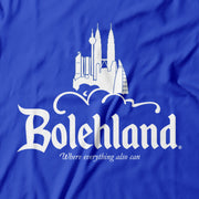 Close up of Apoms Parody of Disneyland dubbed Bolehland!
