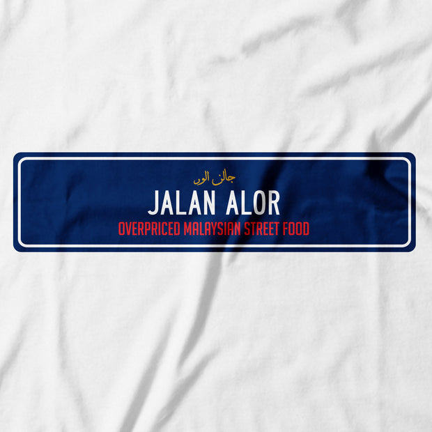 Adult - T-Shirt - Jalan Alor - White