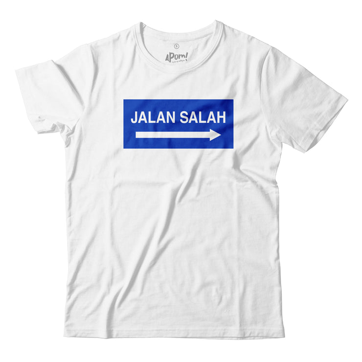 Adult - T-Shirt - Jalan Salah - White