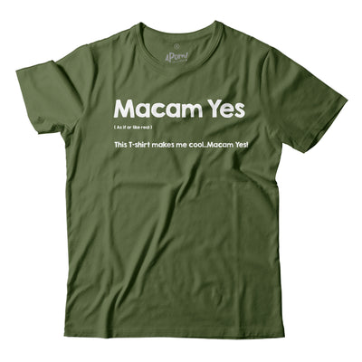 Adult - T-Shirt - Macam Yes - Army Green