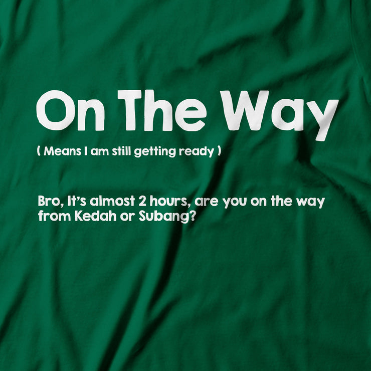Adult - T-Shirt - On The Way - Dark Green