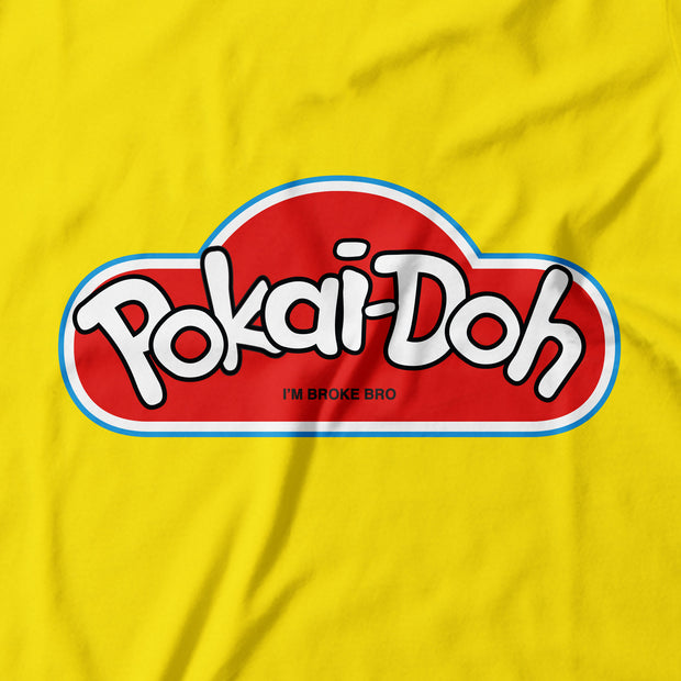 Adult - T-Shirt - Pokai-Doh - Yellow