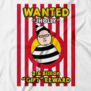 Adult - T-Shirt - Wanted Jholly Poster - White