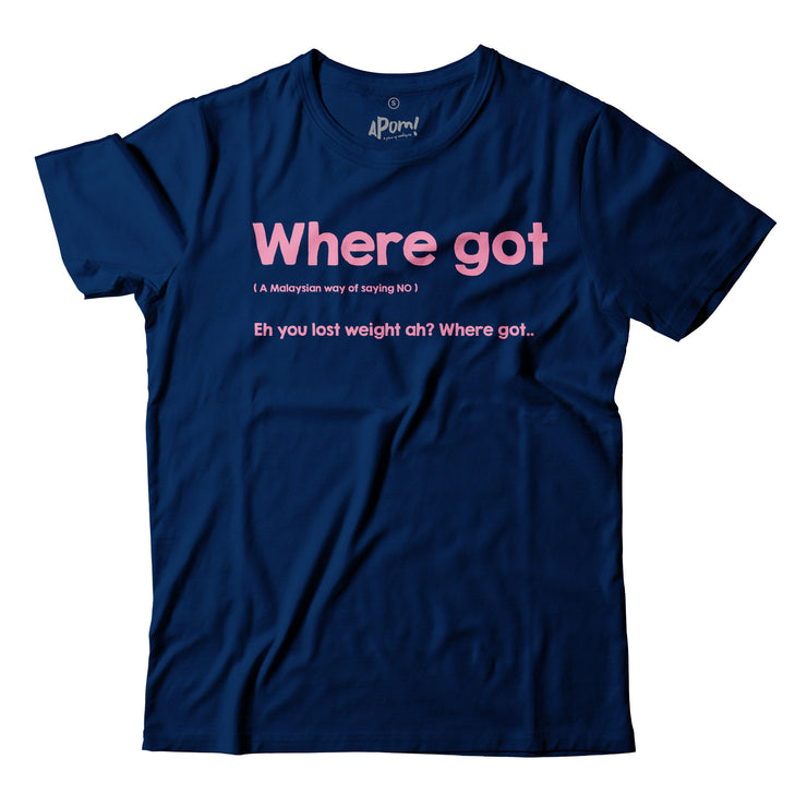 Adult - T-Shirt - Where Got - Dark Blue