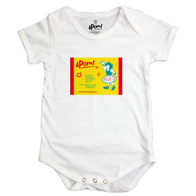 Baby Romper - Pop Pop - White