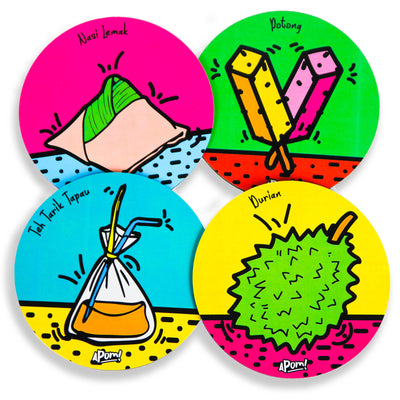 POP Culture Coaster Set of 4