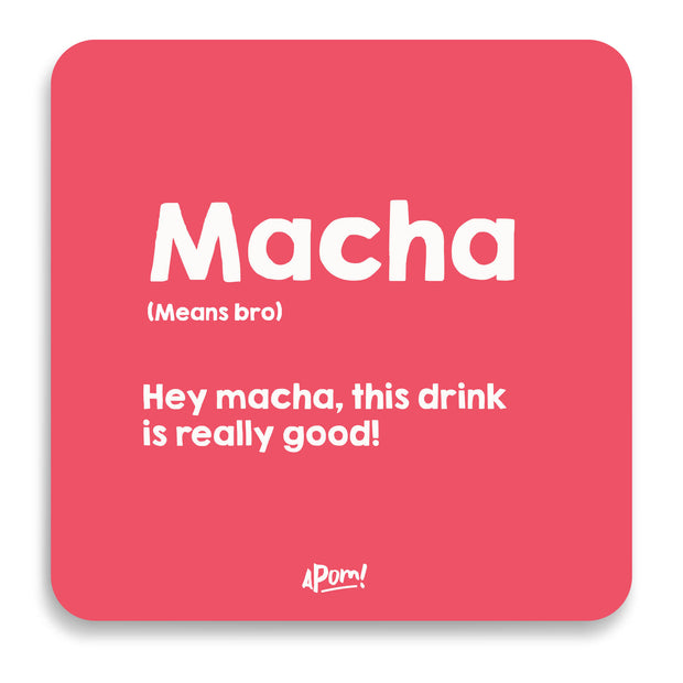 Macha Drink Coaster
