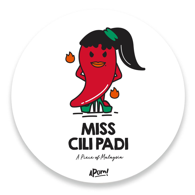 Miss Cili Padi Drink Coaster